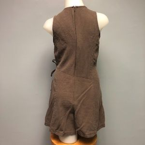 Vintage Pants - SOLD 90s 100% Silk Noil Skort Romper Playsuit Boho